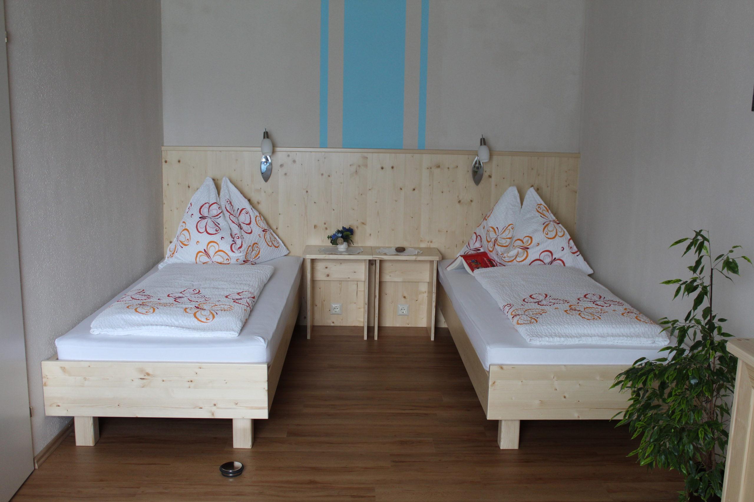Ferienwohnung Nockberge - getrennte Betten im zweiten Schlafzimmer